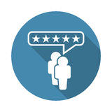 Customer reviews, rating, user feedback concept vector icon. Stock Image