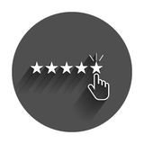 Customer reviews, rating, user feedback concept vector icon. Royalty Free Stock Images