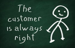 The customer is always right Royalty Free Stock Photos