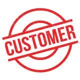 Customer rubber stamp Royalty Free Stock Photography