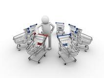 Customer's choice. Where do I want to shop today Royalty Free Stock Photos