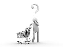 Customer's choice. What do I want to buy today Royalty Free Stock Image