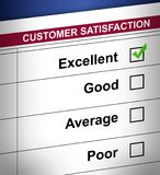 Customer satisfaction. Application. Vector file available Stock Image