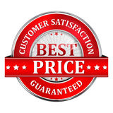 Customer satisfaction and Best Price Guaranteed Stock Image