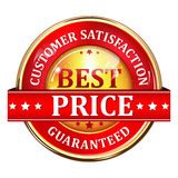 Customer satisfaction and Best Price Guaranteed Royalty Free Stock Images