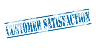 Customer satisfaction blue stamp Stock Image