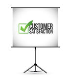Customer satisfaction checkmark presentation Royalty Free Stock Image