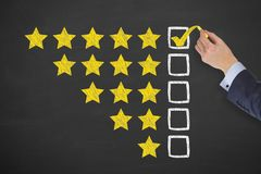 Customer Satisfaction Concepts on Chalkboard Background. Business working concepts stock photo