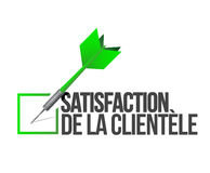 Customer satisfaction dart selection. french Stock Image