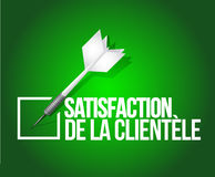 Customer satisfaction dart selection. french Stock Images