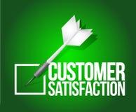 Customer satisfaction dart selection. illustration Royalty Free Stock Images
