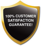 Customer satisfaction guarantee. Emblem - glossy version Royalty Free Stock Photo