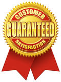 Customer Satisfaction Guaranteed Red Gold Royalty Free Stock Photography