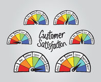 Customer satisfaction illustrations Stock Photo