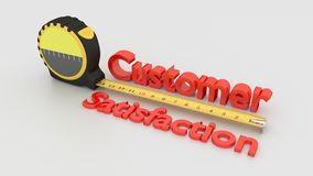 Customer satisfaction measurement concept with tape isolated on Stock Photos