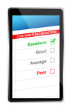 Customer satisfaction online selection tablet PC. Royalty Free Stock Photography