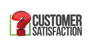 Customer satisfaction question mark unknown Royalty Free Stock Images