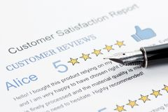 Customer Satisfaction Report Royalty Free Stock Images