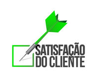 Customer satisfaction selection. portuguese Royalty Free Stock Images
