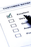 Customer satisfaction service stock photography