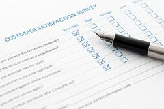 Customer Satisfaction Survey Stock Images