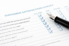 Customer Satisfaction Survey Royalty Free Stock Photo