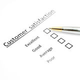 Customer satisfaction survey form with the pen Royalty Free Stock Photography