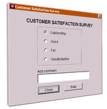 Customer satisfaction survey interface Royalty Free Stock Images