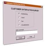 Customer satisfaction survey interface Royalty Free Stock Images