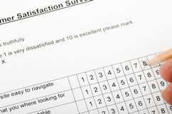 Customer Satisfaction Survey Stock Image