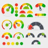 Customer satisfaction vector indicator with emotions icons. Client emotive rating Royalty Free Stock Photo