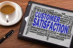 Customer satisfaction word cloud Royalty Free Stock Photography