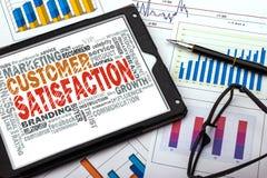 Customer satisfaction word cloud Stock Image