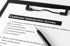 Customer satisfactory survey Royalty Free Stock Photos