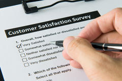 Customer satisfactory survey Stock Photography