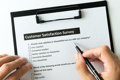 Customer satisfactory survey Royalty Free Stock Images