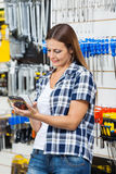 Customer Scanning Product's Barcode Through Royalty Free Stock Photography