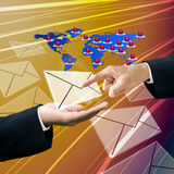 Customer send order by email Royalty Free Stock Image
