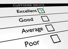 Customer service. Illustration of a customer service poll Royalty Free Stock Photos