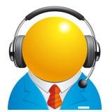 Customer service. Vector illustration Customer service representative icon Royalty Free Stock Photo
