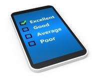 Customer service. Satisfaction survey concept Stock Photos