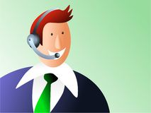 Customer service. Male telephone advisor - executive series Stock Images