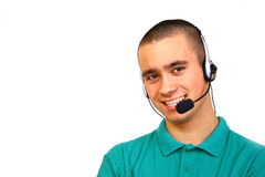 Customer-service. Smiling male customer-service representative Stock Image