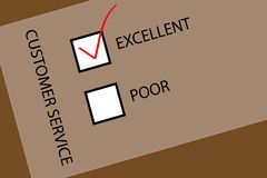 Customer Service. It is the Customer Service Checkbox Stock Images