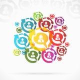 Customer service. Abstract customer service speech bubble Stock Photos