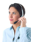 Customer service agent. With headphone Stock Images