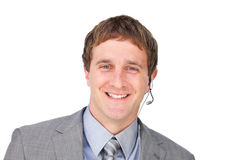 Customer service agent with headset on Royalty Free Stock Photography