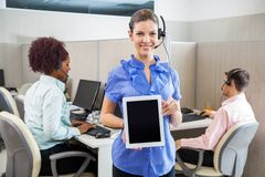 Customer Service Agent Holding Tablet Computer Stock Photography