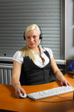 Customer service agent at work Stock Image