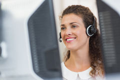 customer service agent working in call center Royalty Free Stock Image